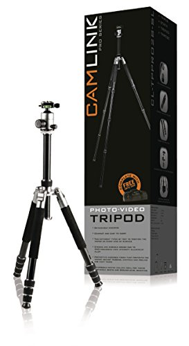 Camlink 28mm Line Diameter Professional Tripod - Silver by Camlink (Image #1)