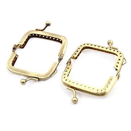 Forma eDealMax cuadrado del metal bolso plegable bolso de la ...