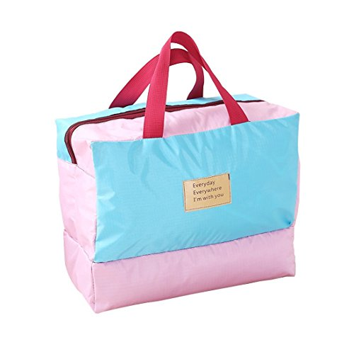 Dry Wet Clothes Separate Swimming Bag Beach Backpack Storage Zipper Tote Handbag Outdoor (Pink) (Target Beach Bag)