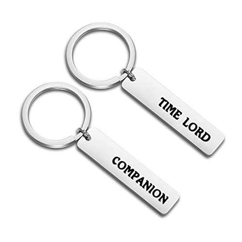 - bobauna Time Lord Companion Keychain Set Doctor Who Gift for Fans BFF Couple (time Lord Companion)