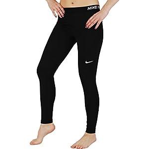 NIKE Women's Pro Cool Tights, Black/Black/White, Large