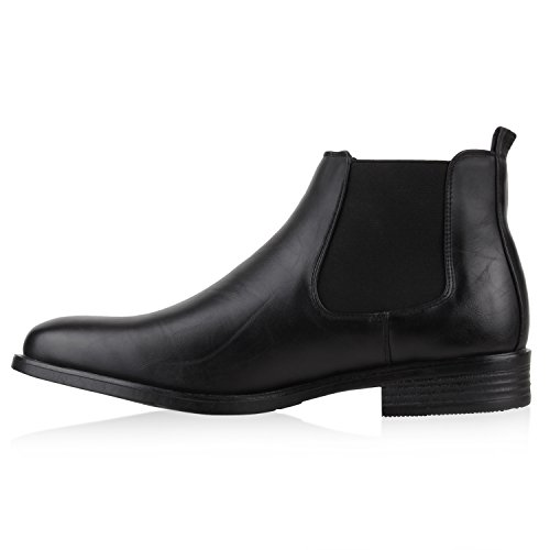41 Flandell Uomo 127369 Chelsea Boots Foderata Stivali Stiefelparadies Nero Caldamente F8wzqP