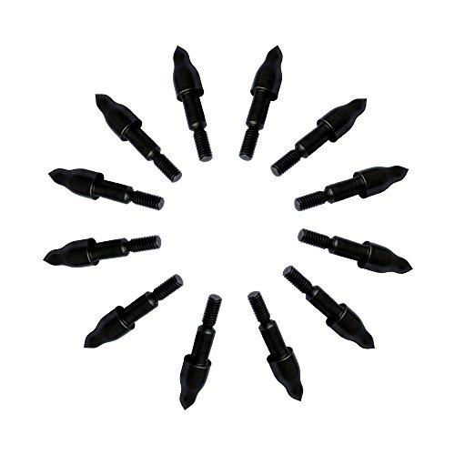 Bowcore Hot Black Oxidation Steel Archery Target Field Points 5/16