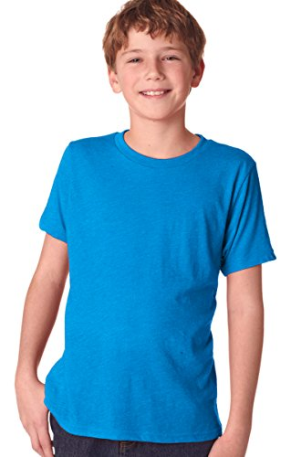 Next Level Big Boy's Tri-Blend Baby-Rib Jersey T-Shirt_Vintage Turquoise_X-Large