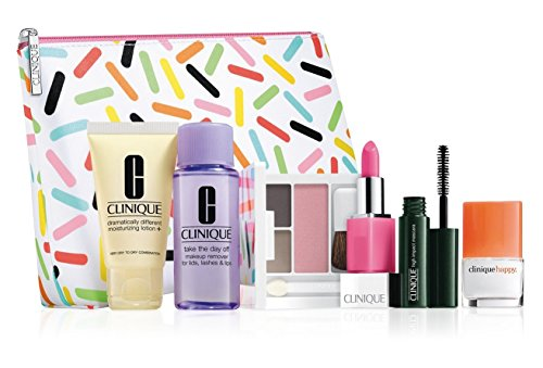 New! 2016 Clinique 7-PC Skincare Makeup Gift Set - Sweet Choice, $70 Value