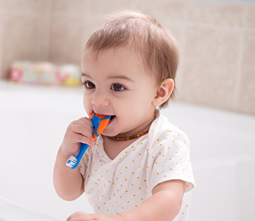 Baby to Teething Toothbrush Baby with Gum Handle and Soft 0-2