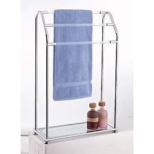 Organize It All Acrylic 3-Bar Towel Rack with Bottom Shelf (62443)