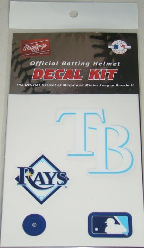 Rawlings Tampa Bay Rays MLB Batting Helmet Decal Kit (Includes Official Team Logos Stickers, MLB Logo & Numbers for Youth Little League Players to Adult Recreation Players