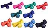 Neoprene Dumbbell Set- 1-10 LB Pairs, Rack not included For Sale