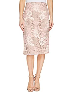 Calvin Klein Womens Lace Pencil Skirt
