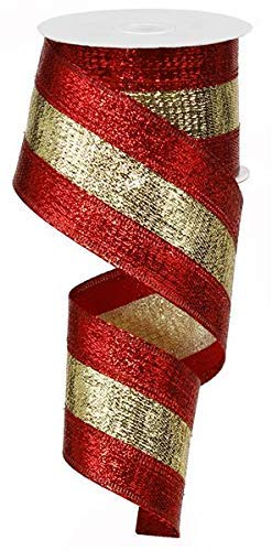 3 in 1 Metallic Wired Edge Ribbon - 2.5