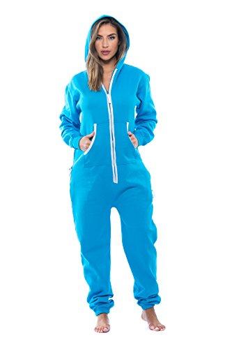 #followme 6438-TRQ-L Adult Onesie Pajamas Jumpsuit -