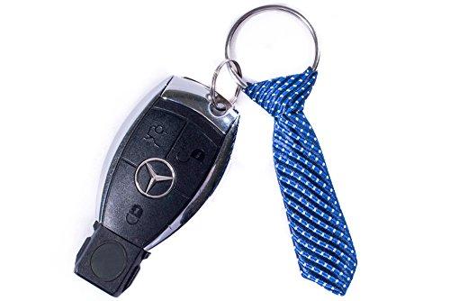 The Pocket Tie Blue Keychain - Simple & Elegant, Gift for Men