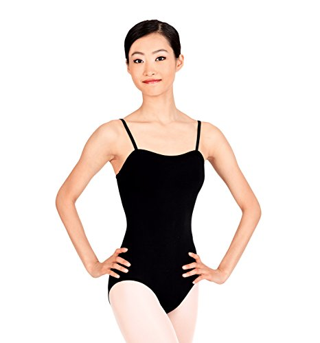 Adult Square Neck Camisole Dance Leotard,TH5112WHTXL,White,XL