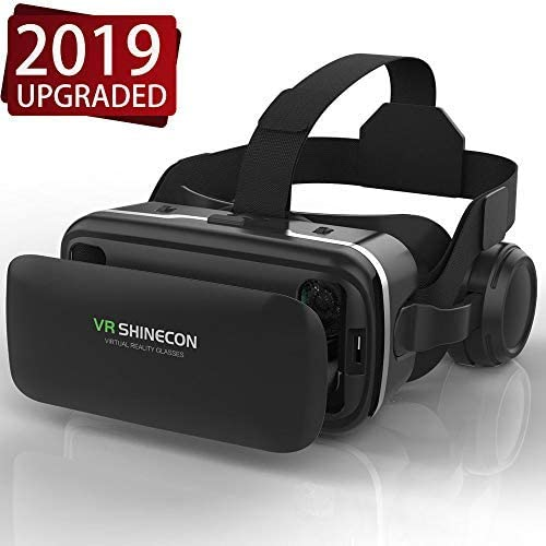 Amazon Com Vr Headset Virtual Reality Headset Vr Shinecon 3d Glasses For Movies Video Games Virtureality Glasses Vr Goggles For Iphone Android And Other Phones Within 4 7 6 2 Inch