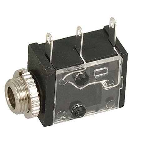 35RAPC2AV Buchse Jack 3,5mm weiblich mono mit Schalter mit 90°-Winkel SWITCHCRAF