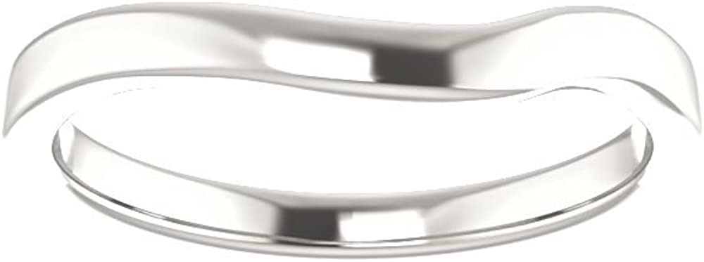 Bonyak Jewelry Sterling Silver Band for 10x8 mm Oval Ring Size 7