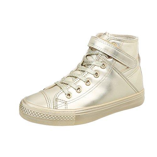 Oro Da Piatto Sneakers Scarpe Ital Sneaker Donna design High Bl80 cqw8xHPBFE