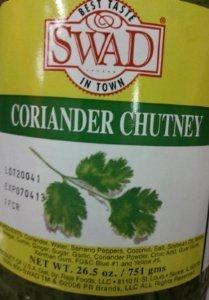 Swad Coriander Chutney 26.5 Oz by Swad