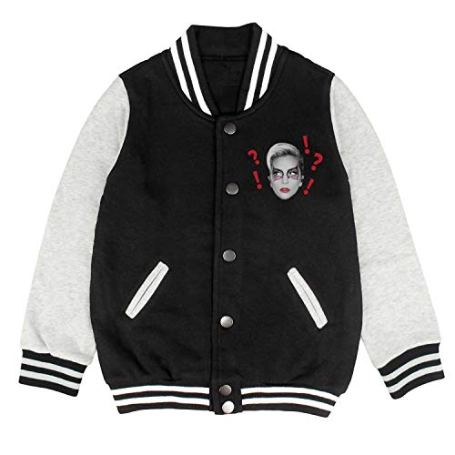 Kids Album Cover Varsity Letterman Style Jacket Baseball School Coat Uniform Sweatshirt Cotton