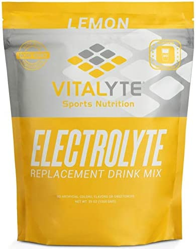 Vitalyte Natural Electrolyte Powder Drink Mix, Gluten Free, 40 2 Cup Servings Per Container Lemon-Pouch