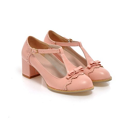 Balamasa Femmes Boucle Talons Bas Matériau Souple Chaussures-chaussures Blanc