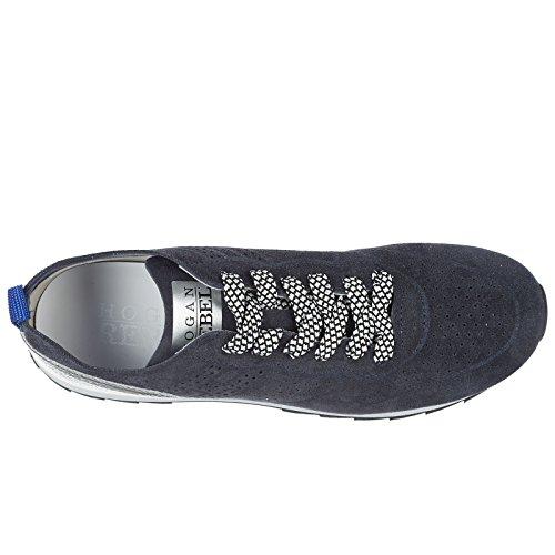 camoscio Nuove Hogan Blu Rebel Scarpe r261 Donna Sneakers zOOwIqx4X