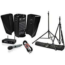 Fender Passport Event Portable PA System Bundle with Sennheiser XSW 2-835 Wireless Vocal Microphone System and Accessories (4 items)