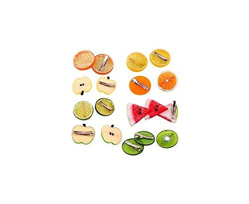 Kingwin 8pcs Cartoon Cute frutas serie pasador de cabello Clip de pelo niñas accesorios para el pelo