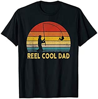 ⭐️⭐️⭐️ Mens Reel Cool Dad  Vintage Fishing Father's Day Papa Need Funny Tee Shirt Need Funny Short/Long Sleeve Shirt/Hoodie