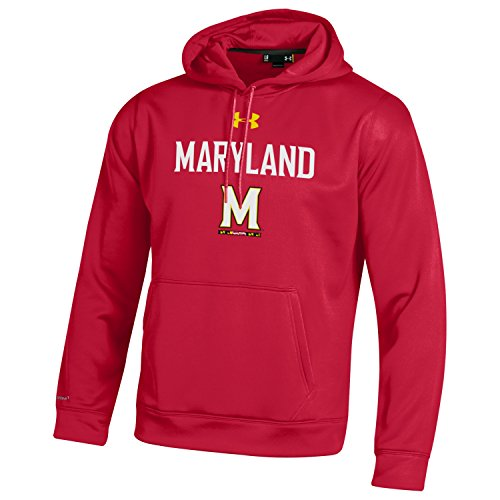 Under Armour NCAA Maryland Terrapins Men's Fleece Hoodie, 3X-Large, (Maryland Terps Ncaa Hoody)