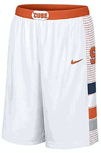 Syracuse Orange 12  Inseam White 2013 Embroidered Player Basketball Shorts By Nike  S 32 33