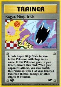 Amazon.com: Pokemon - Koga39;s Ninja Trick (115) - Gym ...