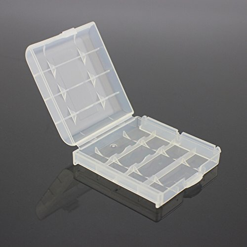 SODIAL(R) Pack of 4 PCS AA / AAA Battery Storage Hard Case Box-Clear by SODIAL(R) (Image #3)