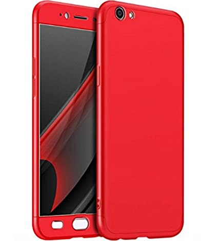 new style 88688 28876 Tidel 360 Degree Vivo Y53 Front Back Cover Case WITH TEMPERED (RED)