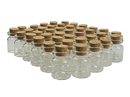 Shxstore 5ml Small Mini Glass Bottles Sample Jars with Cork Stoppers for Art Crafts 22mm x 30mm Pack of 40