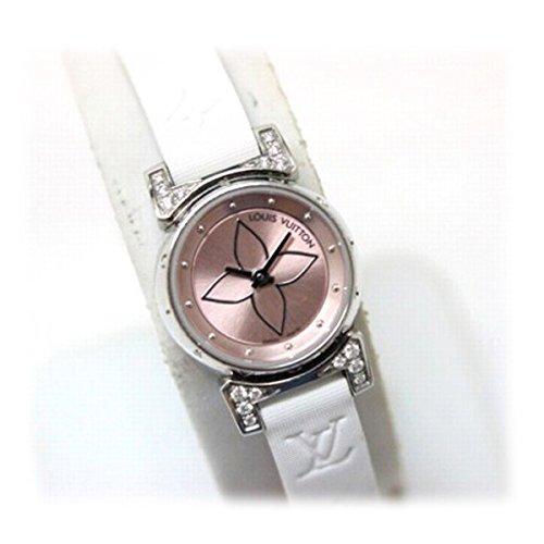 [ルイヴィトン]LOUIS VUITTON ルイヴィトン タンブール ビジュ レディース腕時計 ラグダイヤ ピンク文字盤 クオーツ モノグラム ドゥスールベルト ブロン Q151P [中古] B01D2NI1R0