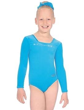 The Zone Z685SPA Sparkle justaucorps de gymnastique à manches longues avec  col carré en velours lisse bd99d17c59b