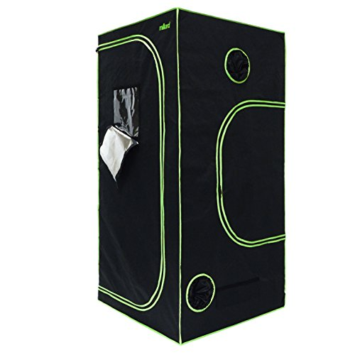 """41qFo8RYjUL - MILLIARD Horticulture D-Door 36"""" x 36"""" x 73"""" 100% Reflective Mylar Hydroponic Grow Tent with Window, Great for Indoor Planting and Early Seedling Starters"""