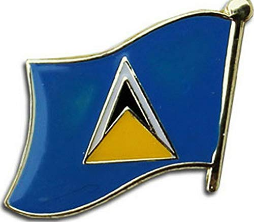 Mikash St Lucia Country Flag Bike Motorcycle Hat Cap Lapel Pin | Model FLG - 2197 -