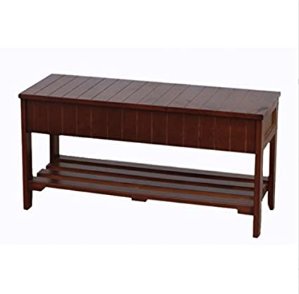 amazon com furniture storage bench wood solid pine shoe with for