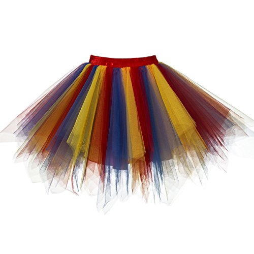 (Topdress Women's 1950s Vintage Tutu Petticoat Ballet Bubble Skirt (26 Colors) Red Blue Yellow XXL/XXXL New)