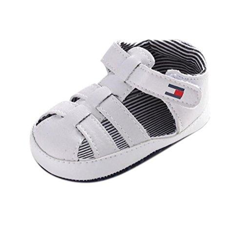 Zapatos de bebé,Tongshi Bebé Infantil Chica Chicos Suave única Cuna Niño Recién Sandalias Zapatos Zapatillas Blanco