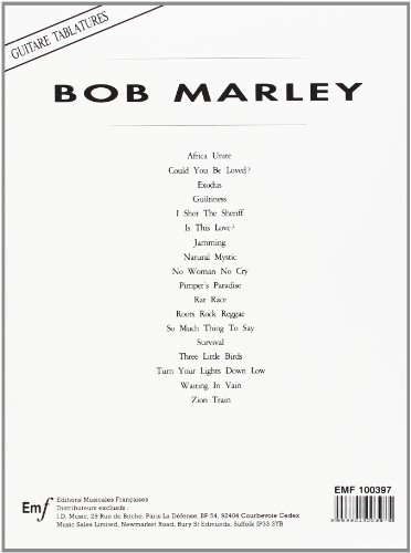 Marley Bob Songbook Tab : Les Beaux Livres