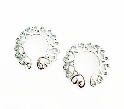 hyidealism pezón anillo bares escudos cuerpo piercing joyas par 14G se vende como par