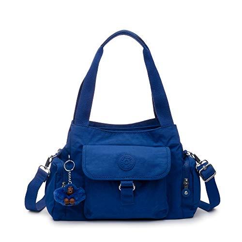 Kipling Felix Large Handbag Blue Tropics Tonal (Berry Handbags For Women)