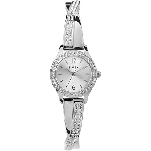 Timex Women's Dress Analog 23mm Watch & Bracelet Set with Swarovski ()