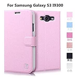 GX Teléfono Móvil Samsung - Carcasas de Cuerpo Completo/Fundas con Soporte - Color Sólido/Superficie de Cristal - para Samsung S3 I9300 ( , Rose