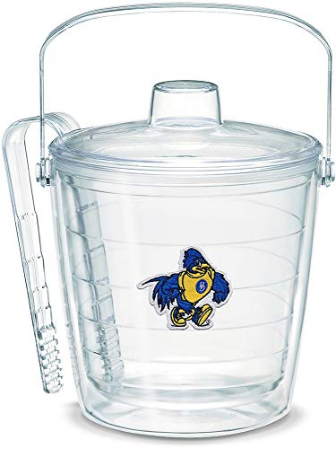 (Tervis 1319422 Delaware Blue Hens Logo Insulated Ice Bucket and Tongs with Emblem and Clear Lid - Boxed 87oz Tritan)