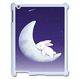 Custom Colorful Case for Ipad 2,3,4, Moon Bunny Cover Case - HL-R687854